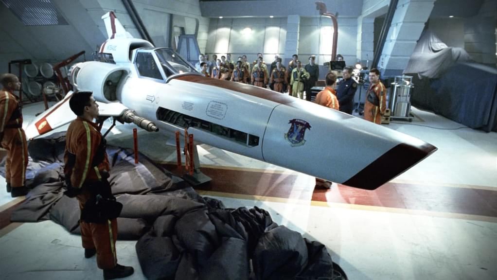 An image from Battlestar Galactica Miniseries Pt. 1